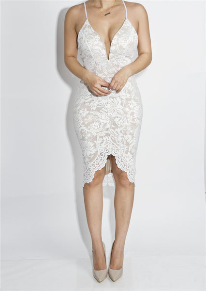 Lace Backless Dress - Awesome World - Online Store  - 4