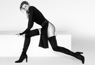 Kardash Black Over Knee Boots - 2 Heel Sizes & 2 Models - Awesome World - Online Store  - 9