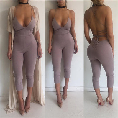 Soft Backless Jumpsuit - Awesome World - Online Store  - 3