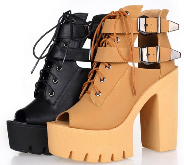 Open Toe Platform Sandals - 2 colors - Awesome World - Online Store  - 5
