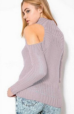 High Neck Without Shoulders Sweater -  6 Colors - Awesome World - Online Store  - 7