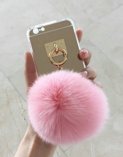Fluffy Soft Gold Case with Chain - Awesome World - Online Store  - 1
