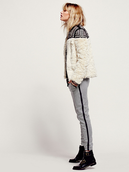 Faux Fur Studded Coat - Awesome World - Online Store  - 4