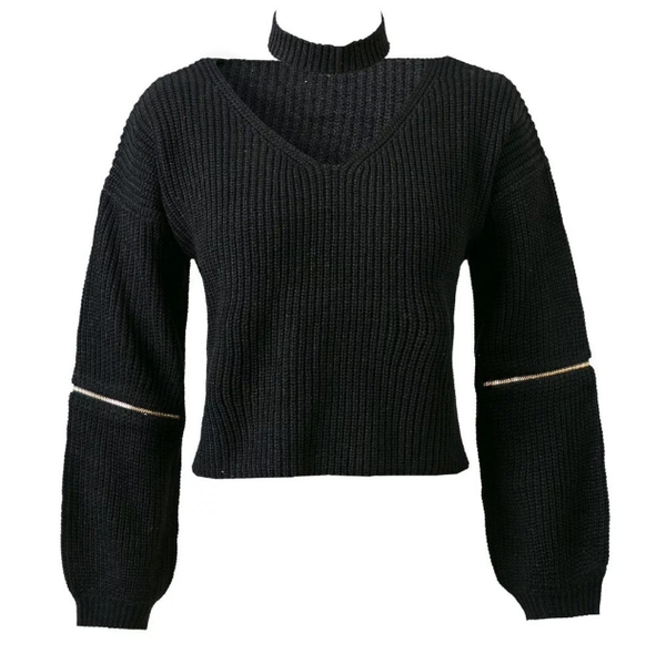 Knitted Sweater+Choker - 4 colors - Awesome World - Online Store  - 4