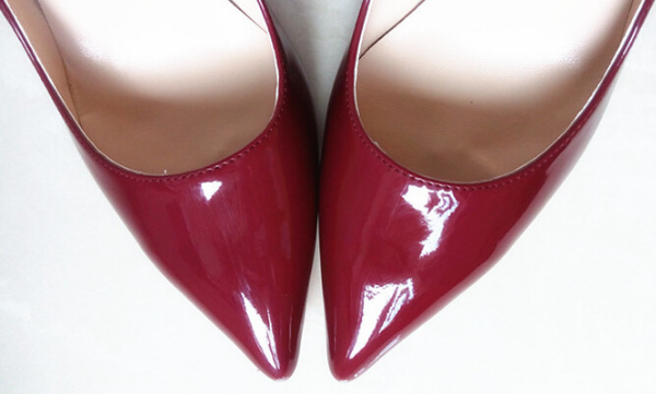 Shiny Wine Red Stiletto - 3 Heel Sizes - Awesome World - Online Store  - 2