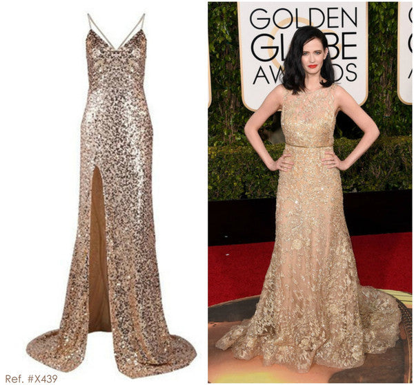 Backless Sequinned Gold Gown - Awesome World - Online Store  - 10