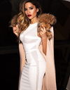 Mesh Snow Bandage Dress - Awesome World - Online Store  - 1