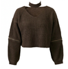 Knitted Sweater+Choker - 4 colors - Awesome World - Online Store  - 5