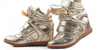Wedge Sneakers - Metallic - Awesome World - Online Store  - 6