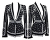 B Pearl Beading Black Blazer - Awesome World - Online Store  - 3