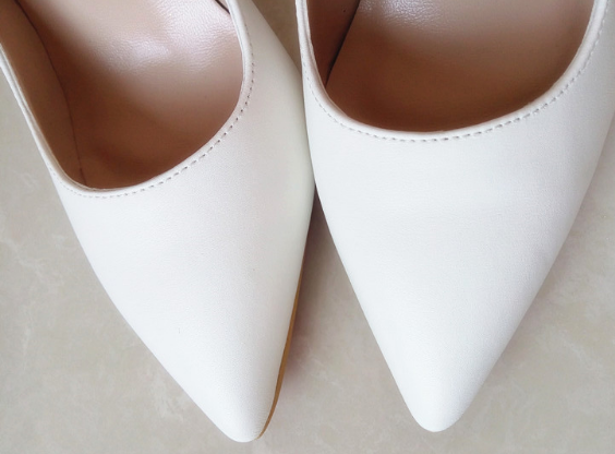Mate White Stiletto - 3 Heel Sizes - Awesome World - Online Store  - 2