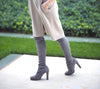 Kardash Grey Over Knee Boots - 2 Heel Sizes & 2 Models - Awesome World - Online Store  - 9