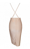 Nude Silky Style Mini Dress - Awesome World - Online Store  - 4