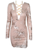 Glam Edition - Lace Up Neck w Sequins Dress - Awesome World - Online Store  - 3