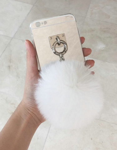 Fluffy Soft Gold Case with Chain