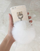 Fluffy Soft Gold Case with Chain - Awesome World - Online Store  - 2