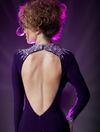 A-line Long Sleeves Purple Gown - Awesome World - Online Store  - 5