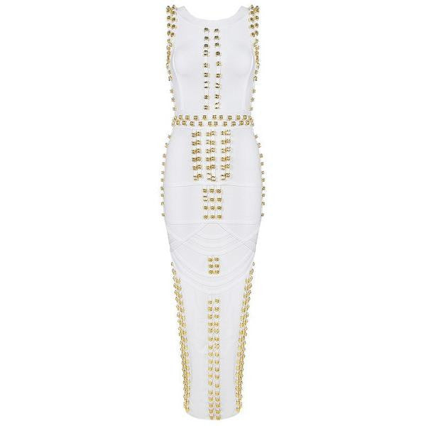 Bandage Rivets Luxe Dress