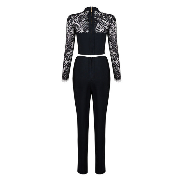 Lace Collar 2 piece Jumpsuit - 2 Colors - Awesome World - Online Store  - 6