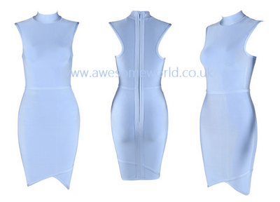 Asymmetric Turtleneck Bandage Dress - Awesome World - Online Store  - 5