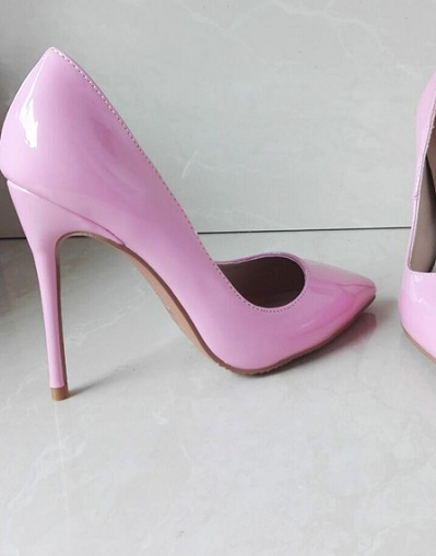 Shiny Pink Stiletto - 3 Heel Sizes - Awesome World - Online Store  - 1
