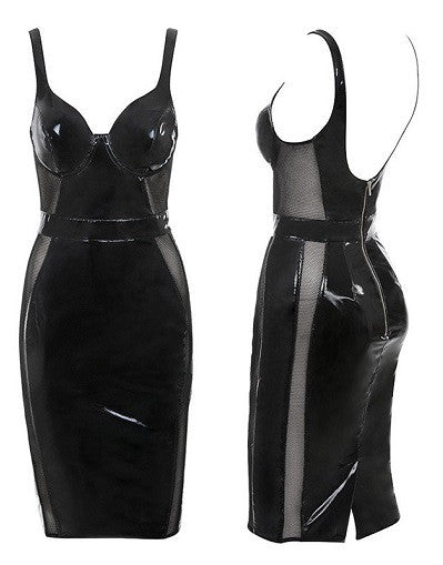 Latex Love Fishnet Side Dress