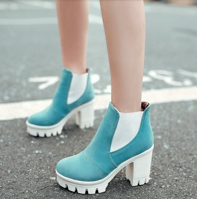 Platform Ankle Boots - 4 colors - Awesome World - Online Store  - 3