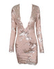 Glam Edition - Deep V Sequins Dress - Awesome World - Online Store  - 4