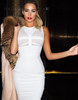 Mesh Snow Bandage Dress