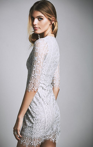 Laced Mesh Sleeves & Sides Dress - Awesome World - Online Store  - 3