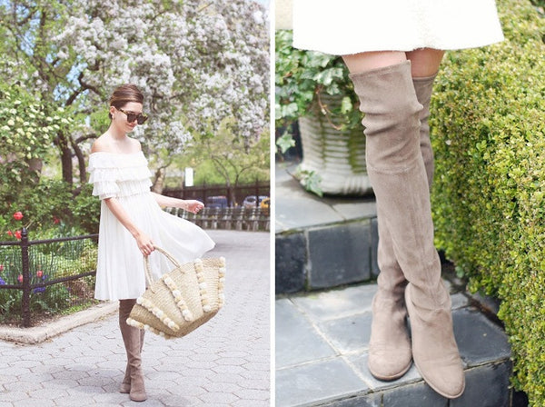 Kardash Khaki Over Knee Boots - 2 Heel Sizes - Awesome World - Online Store  - 11