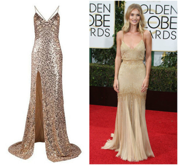 Backless Sequinned Gold Gown - Awesome World - Online Store  - 6