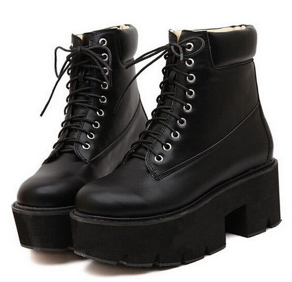 Ankle Platform Boots - 6 COLORS - Awesome World - Online Store  - 4