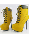 Ankle Yellow Boots - Awesome World - Online Store  - 2