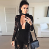 Hollow out Lace Black Set