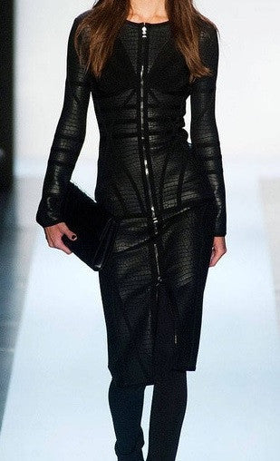 Black Leather Dress - Awesome World - Online Store  - 4