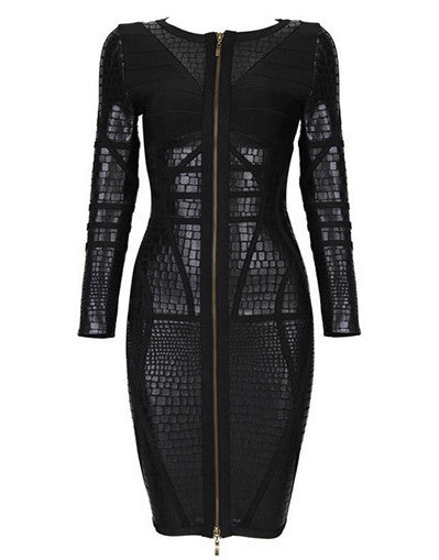 Black Leather Dress - Awesome World - Online Store  - 2