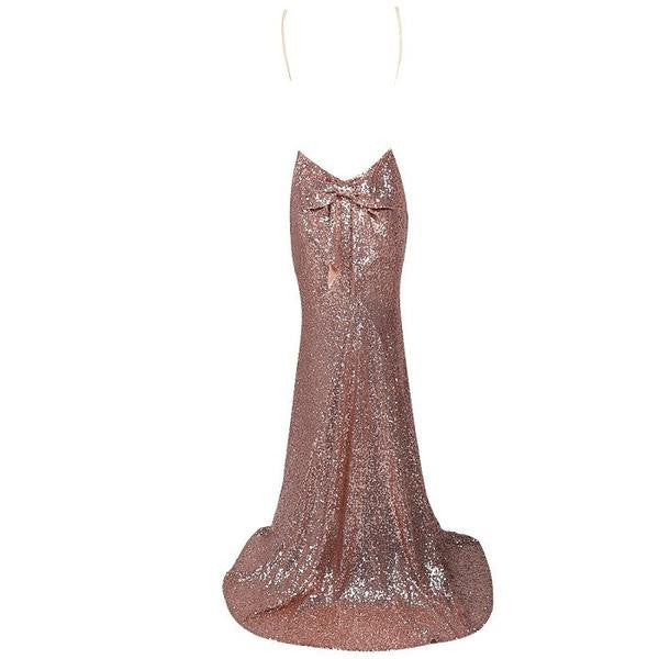 Bow Sequined Dress Maxi - Limited Edition