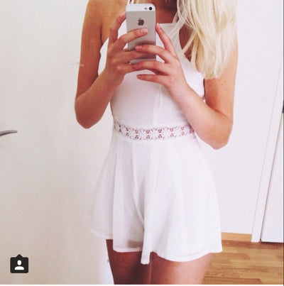 White Sensual Lace Playsuit - Awesome World - Online Store  - 2