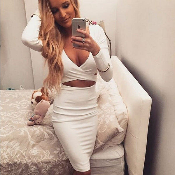 Two Pieces Long Sleeves Bodycon Set