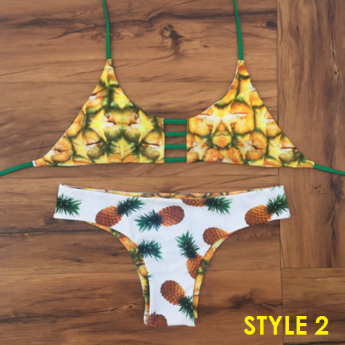 Two Sides Reversible Pineapple Bikini - 5 styles - Awesome World - Online Store  - 4