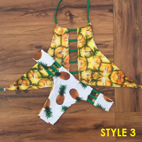 Two Sides Reversible Pineapple Bikini - 5 styles - Awesome World - Online Store  - 5