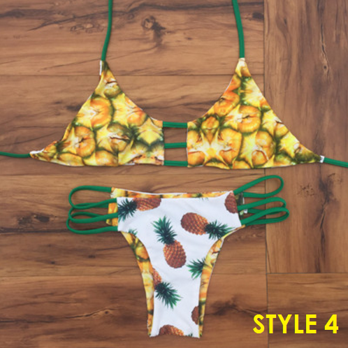 Two Sides Reversible Pineapple Bikini - 5 styles - Awesome World - Online Store  - 6