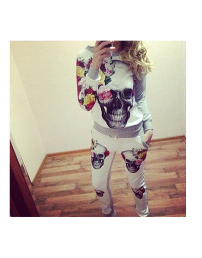 Skull Floral Tracksuit - Awesome World - Online Store