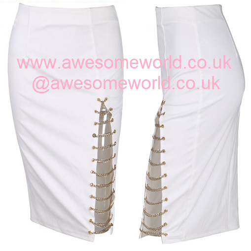 Gianni Gold Chains Skirt - white or black - Awesome World - Online Store  - 7