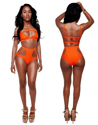 Strappy High Waist Bikini - 3 colors - Awesome World - Online Store  - 6