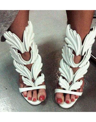 Wings High Heels - White