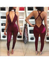 Sensual Low Back Jumpsuit - 2 Colors