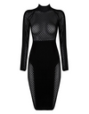 Black Net Bandage Dress