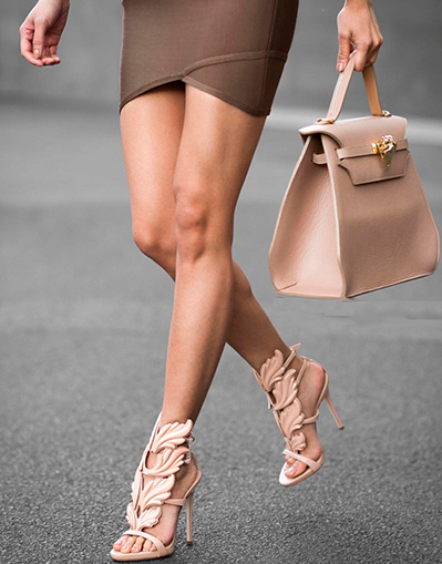 Wings High Heels - Beige - Awesome World - Online Store  - 3